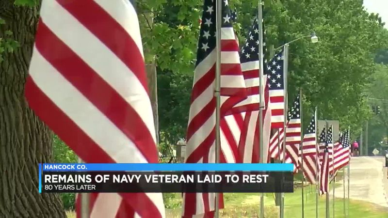 Remains of WWII veteran laid to rest in Hancock Co.