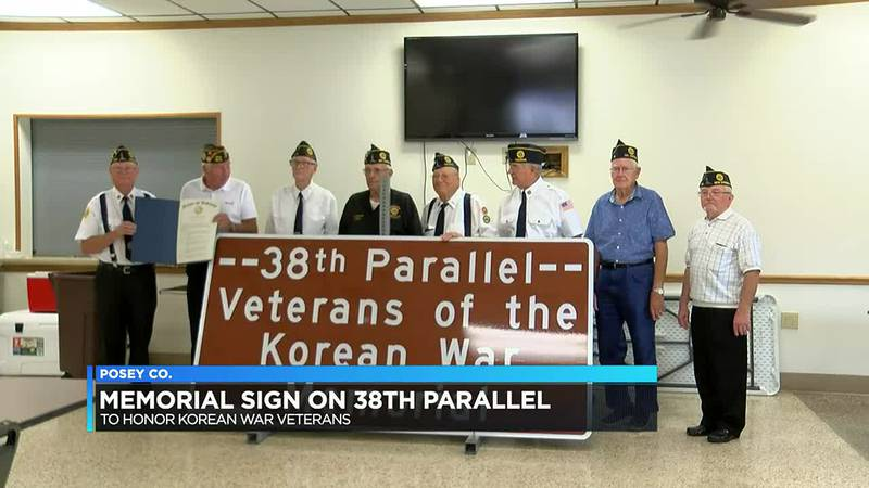 Memorial sign to be placed in Posey Co. to mark 38th parallel in Korean War