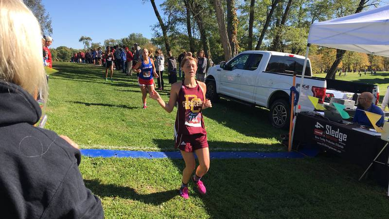 Highlights from the IHSAA boys and girls cross country regional meet at Prides Creek Park in...