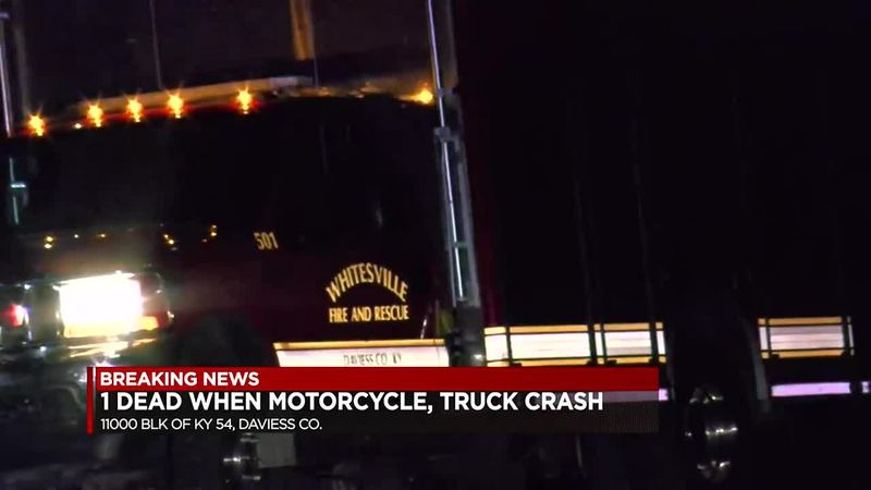Sheriff's Office: 1 person dead in accident involving motorcycle at Daviess Co. line
