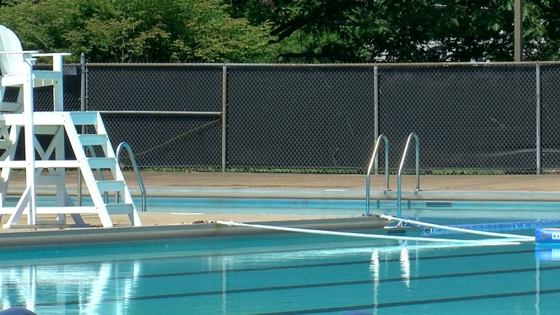 Hartke Pool on Friday June 4, 2021. Officials say they spent the morning getting things ready.