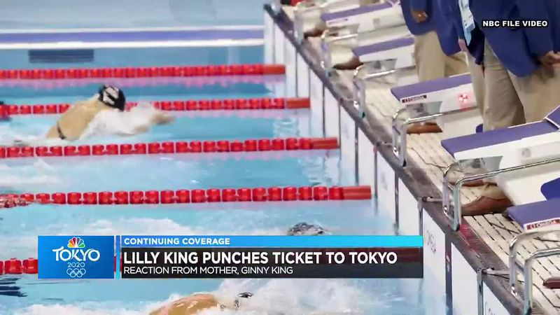 Mark and Ginny King celebrate Lilly's ticket to Tokyo