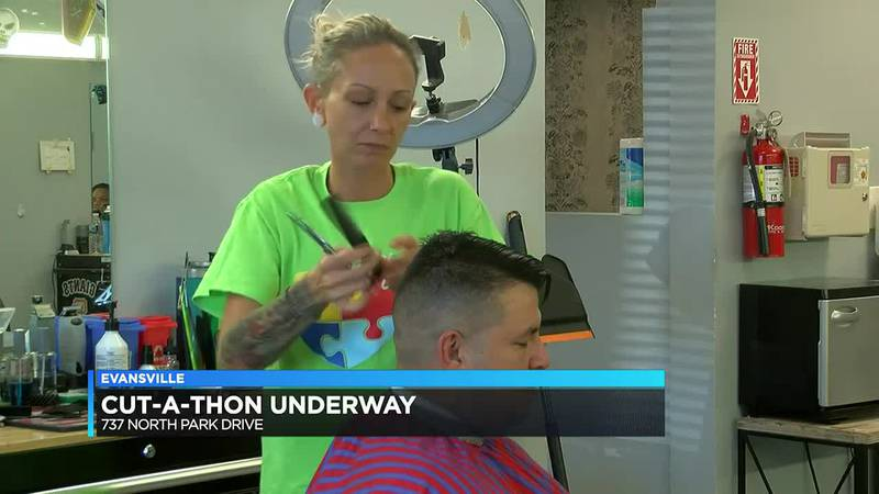 Cut-a-thon underway at K. K.'s Hair Today & Barber