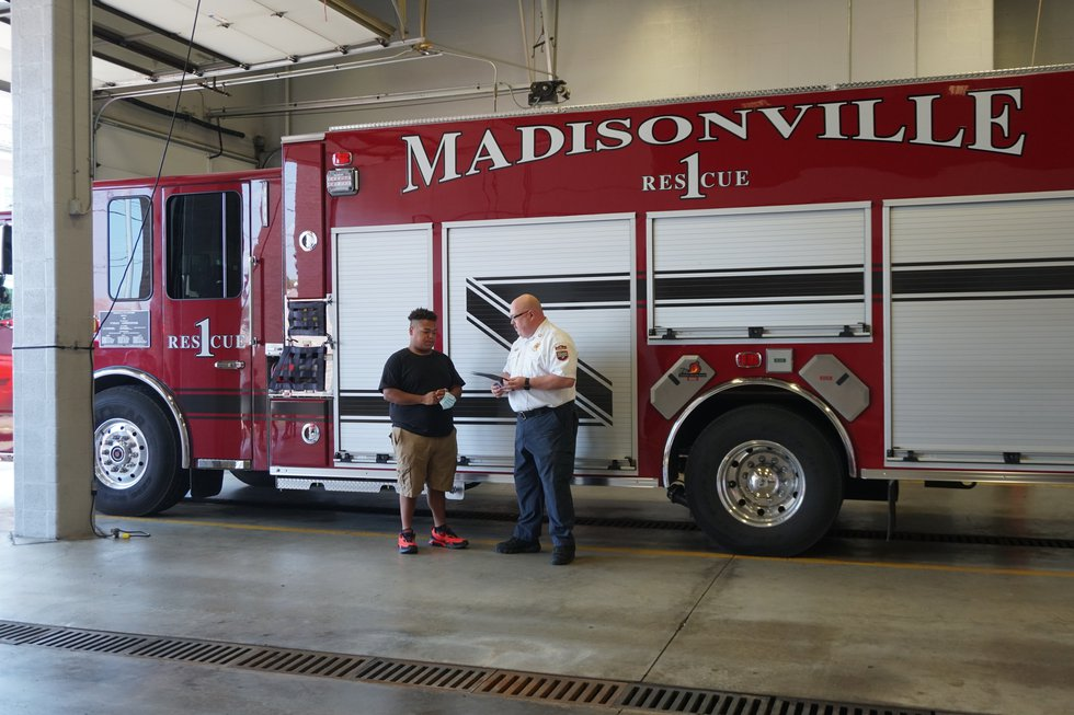 Jay Fairrow honored by Madisonville Fire Chief