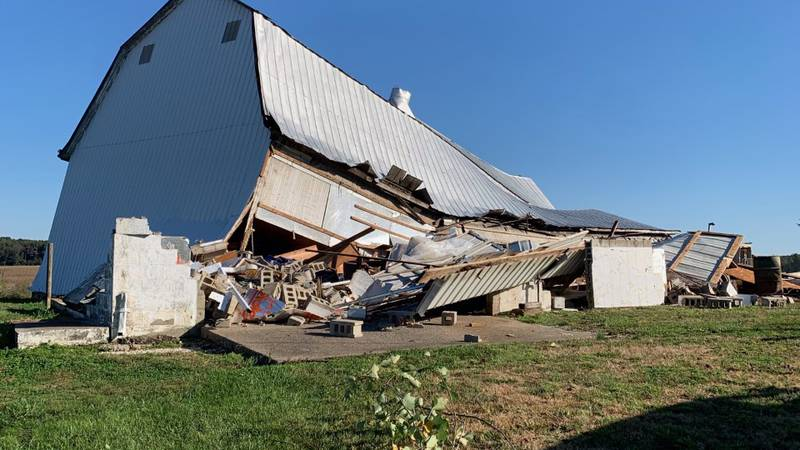The National Weather Service confirms a tornado formed and touched down in Spencer County...