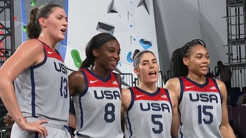 Jackie Young and Team USA takes home gold in women's 3x3 basketball.