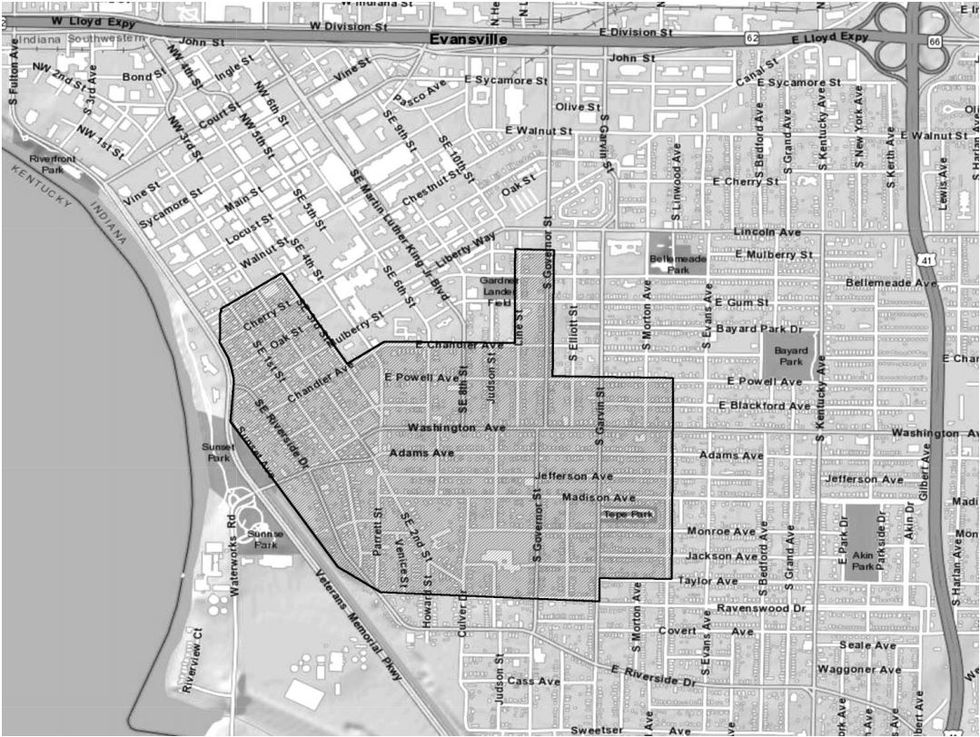 The area outlined on the map is where EPA will conduct the bulk of the soil cleanup during the...