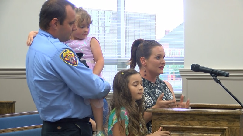 Pavel Zboril and his family were recognized by Daviess County officials Thursday night.