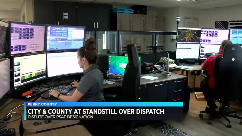 'Hold up' between Perry County and Tell City leaders making the future of dispatch services...