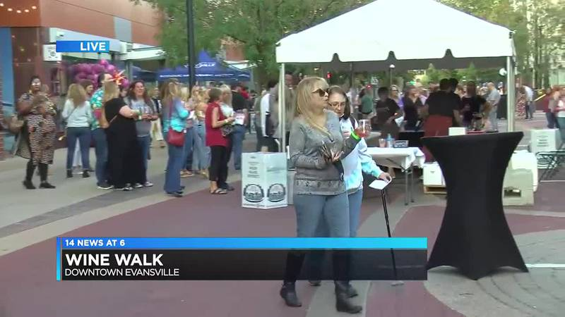Evansville's fall Wine Walk is back for the first time in two years