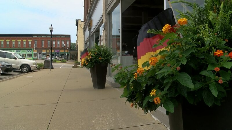Jasper residents have decorations all ready for Strassenfest.