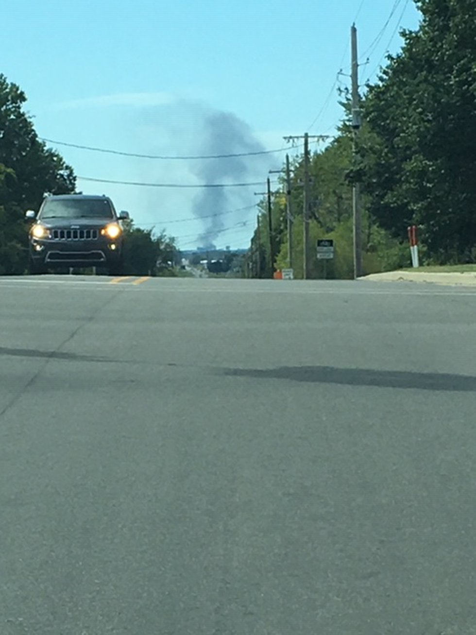 Viewers have sent in pics saying they can see smoke from far away.