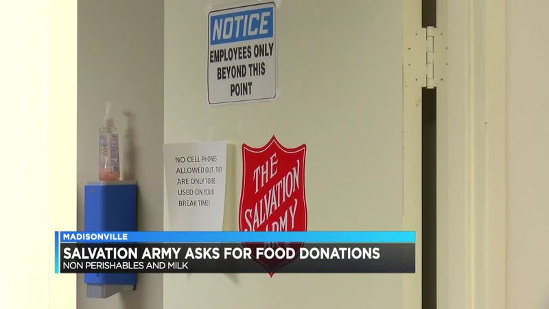Madisonville Salvation Army seeking food donations
