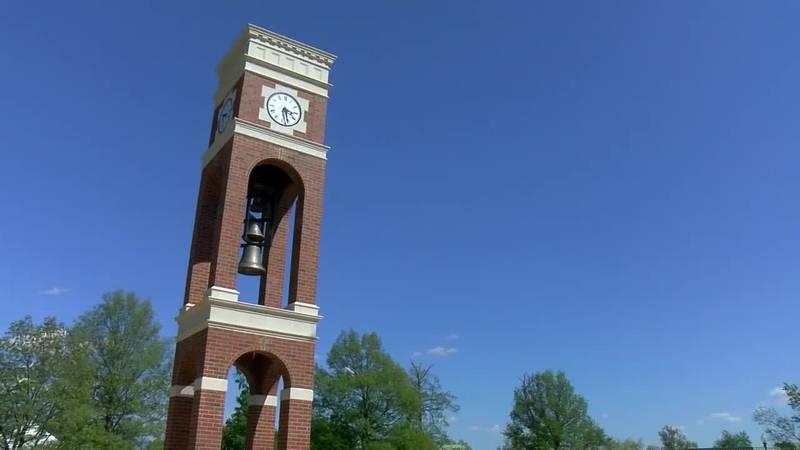 Oakland City University dedicates new bell tower in honor of former professor