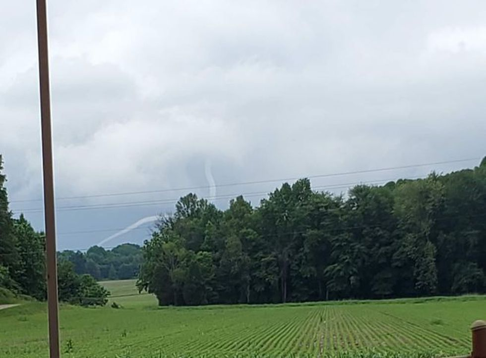 Cold air funnel in Spencer Co.