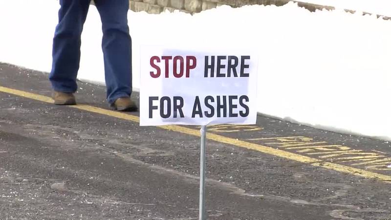 Evansville church holds drive-thru service for Ash Wednesday