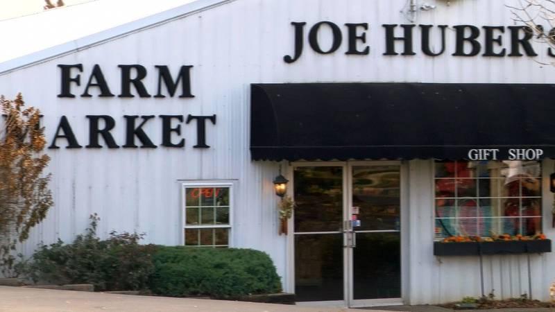 The market and gift shop at Joe Huber's Farm.