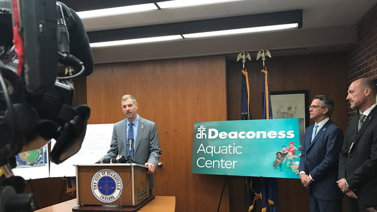 Mayor Lloyd Winnecke says it will be called the Deaconess Aquatic Center. Deaconess will be...