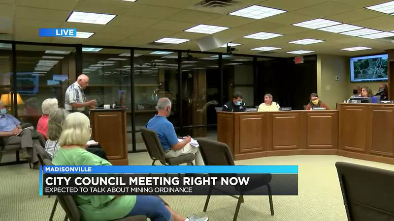Madisonville City Council holds meeting; Main item on agenda includes mining ordinance decision