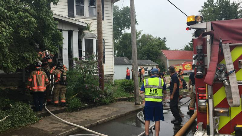 Officials: No one hurt after Evansville house fire, several pets rescued