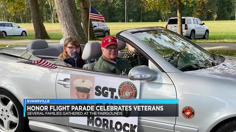 Honor Flight of Southern Indiana honors veterans in drive-thru parade