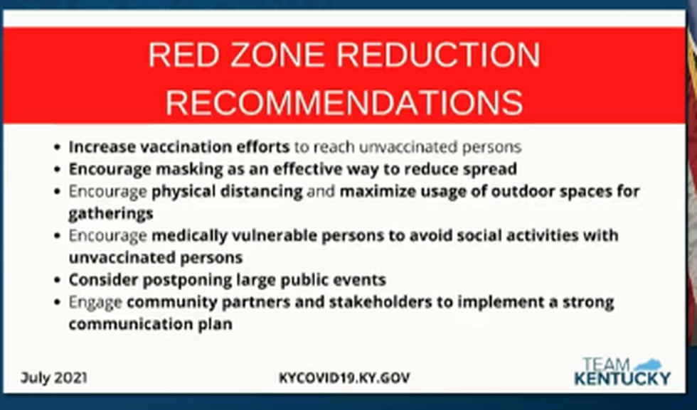 Red Zone Reduction Recommendations.