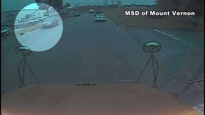 Driver caught on camera violating school bus stop arm in Mt. Vernon