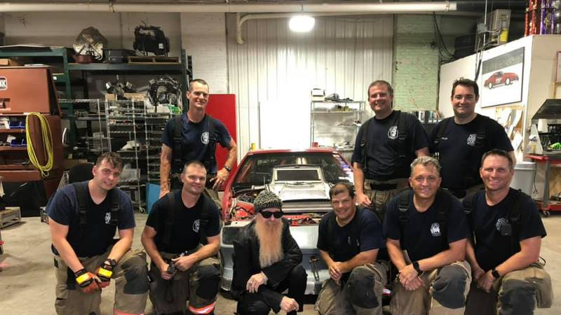 Evansville Firefighters with Billy Gibbons