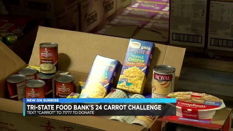 Tri-State Food Bank kicks off its 24 Carrot Challenge.