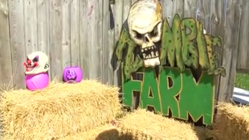 """Newburgh Civitan Zombie Farm held a """"not-so-scary"""" day for little ones to enjoy some Halloween..."""