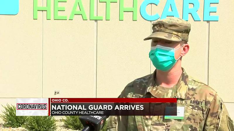 National Guard begins work at Ohio Co. Healthcare