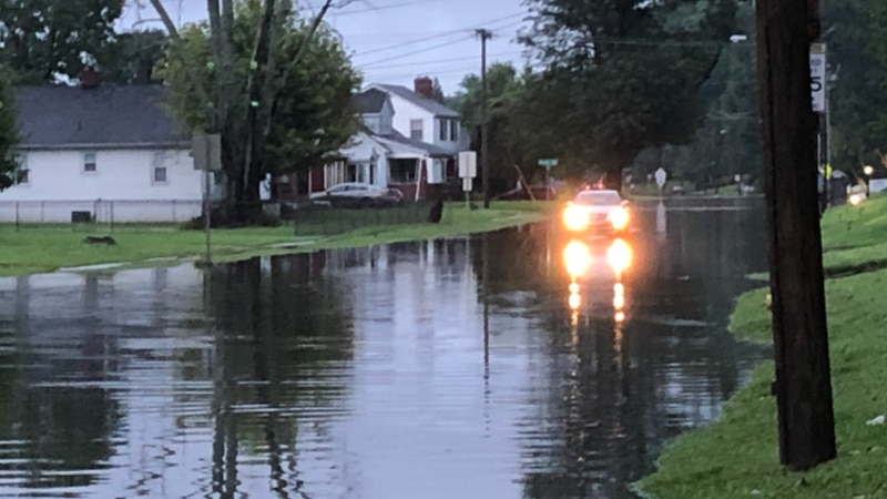 Some roads flooded in Owensboro after overnight rain.