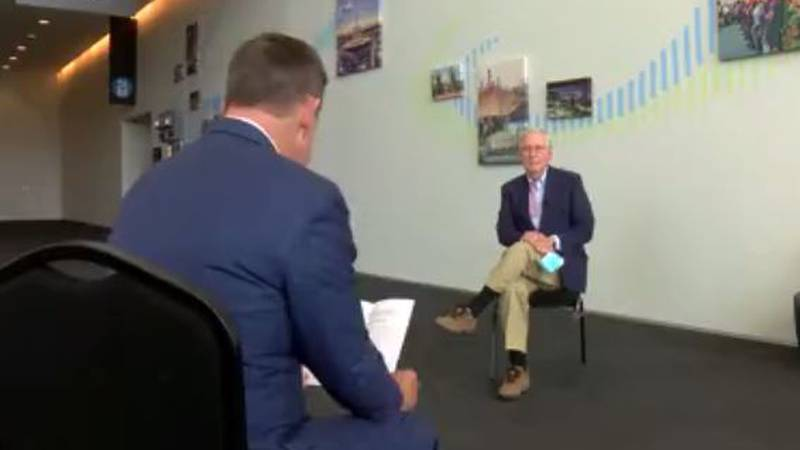 Senator McConnell talks one on one with Randy Moore