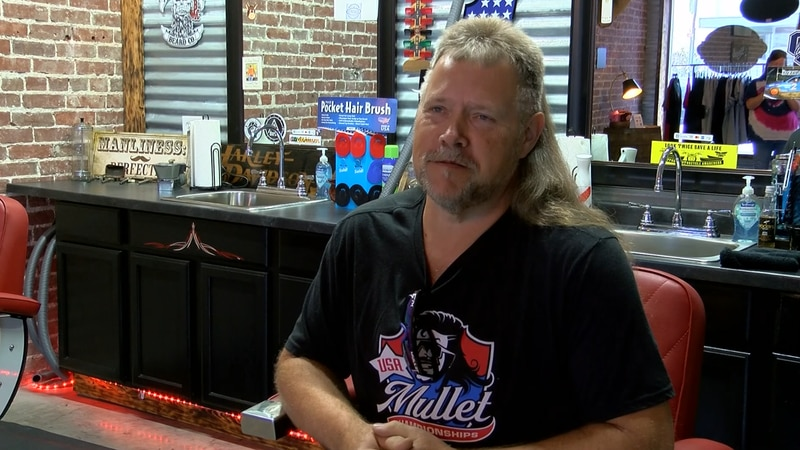 Scott Collard is a finalist for the USA Mullet Championships