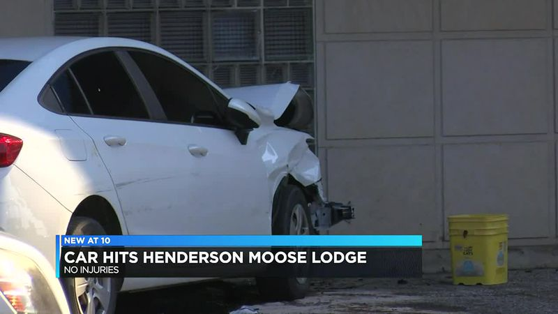 Authorities: Car drives into building in downtown Henderson