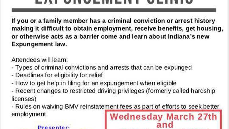 Evansville's Promise Zone is hosting its first Expungement Clinic.