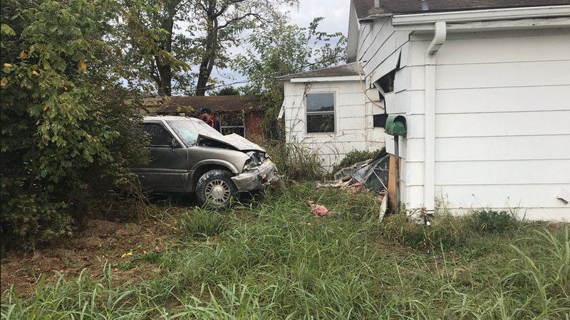 An SUV crashed into a home in the 8000 block of US 231 Friday morning.