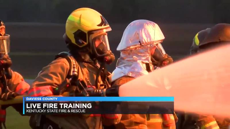Firefighters take part in live fire training in Daviess Co.