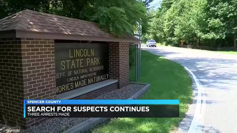 ISP: 3 people arrested in connection to suspect search in Spencer Co.