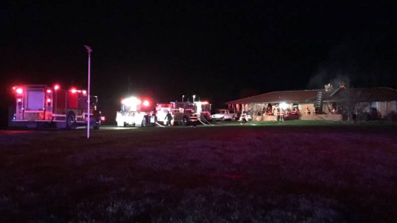 A man had to be airlifted to a hospital in Louisville after a house fire outside...