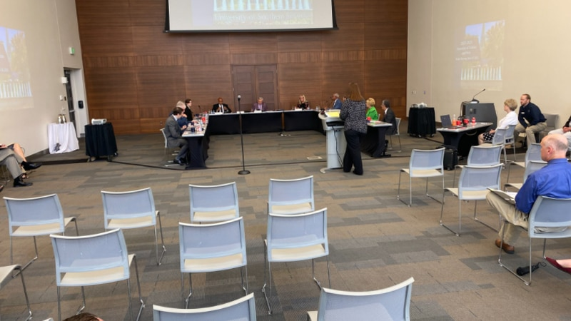 USI holding public forum on proposed tuition and fee increases.