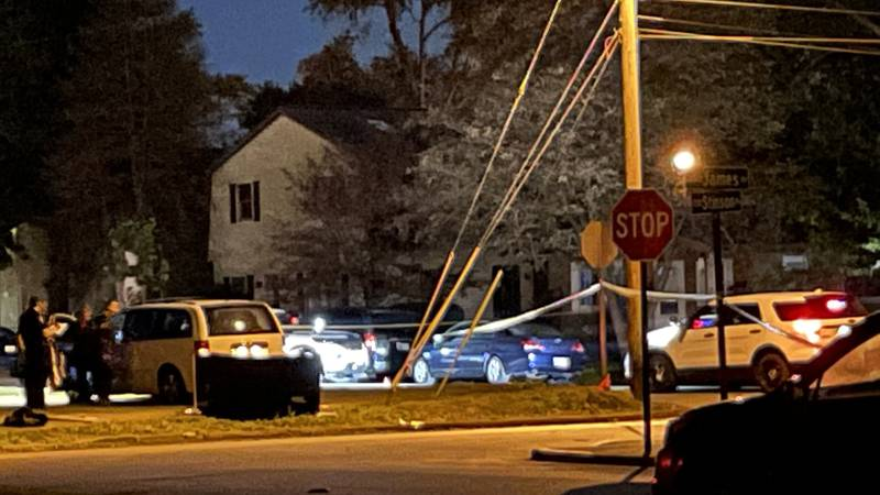 The scene on Stinson Ave. early Wed. morning