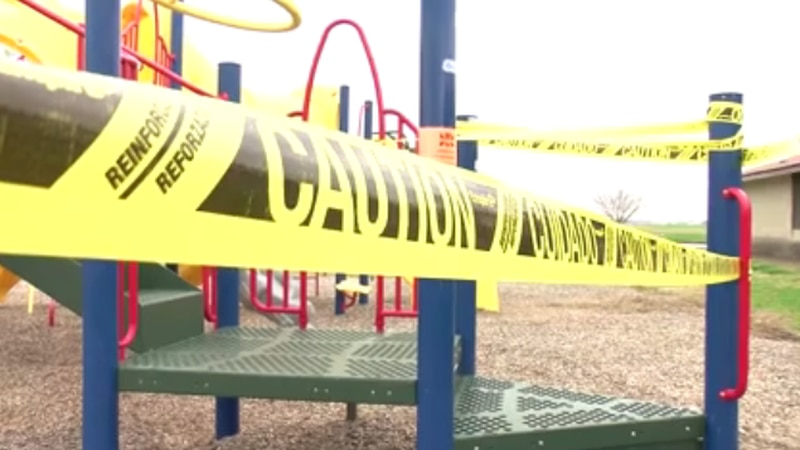 Playgrounds were originally supposed to open in Stage 3 of Indiana's reopening plan, but Gov....