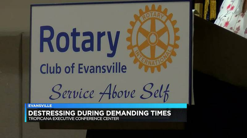 Doctor teaches Evansville Rotary about stress relief