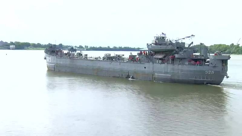 LST leaves on River Cruise