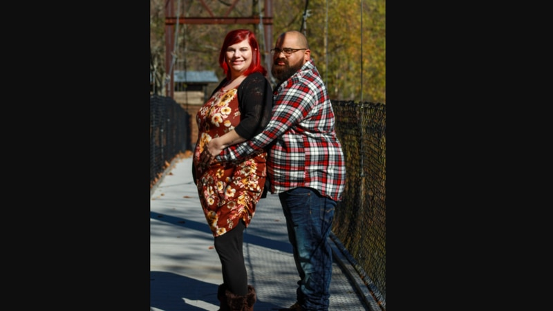Katie Ernst and her late boyfriend Tony Douglas, who passed away in August due to complications...