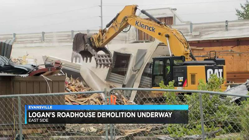 Demo underway on old Logan's Roadhouse
