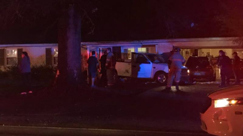Stringtown Road is back open after a truck smashed into a house near Buena Vista Rd. (WFIE)