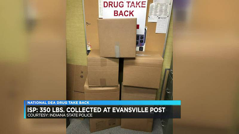 ISP: 350 pounds of medicine collected during 'Drug Take Back Day' event