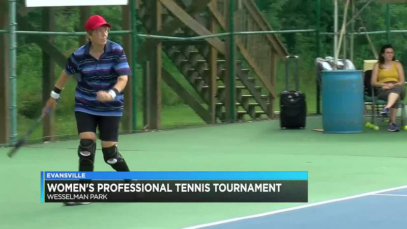 74-year-old sharpens tennis skills at Women's Hospital Classic